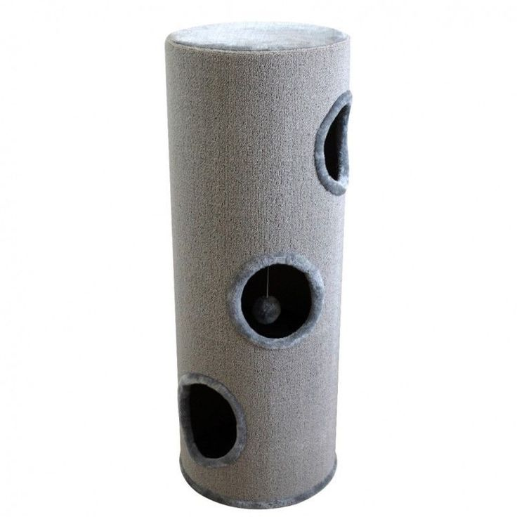 Cat Scratching Tower Cathouse Home Ball Toy Relaxing Area Playground Grey Post #CatScratchingTower