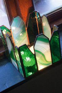 Creative Company   Classy Glass Art: Square candleholder