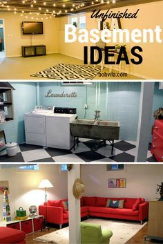 Even without a big budget for a basement remodel, you can make some small changes to an unfinished basement to make it into a space you can spend some time. These are some relatively easy ideas to implement.