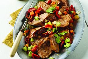 Roasted Pork Loin with Sweet Potato Salsa