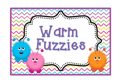 Cute label for your warm fuzzy bucket!