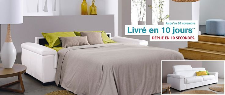 cuir center perla canap lit 3 places en cuir de buffle matelas ergonomique grand confort. Black Bedroom Furniture Sets. Home Design Ideas