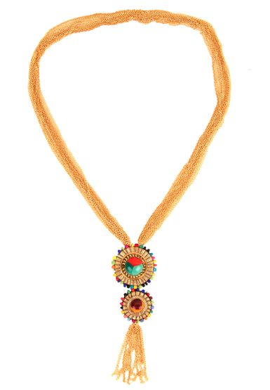 MULTICOLORED STONE NECKLACE. Shop: http://www.raginimittal.com/necklaces/multicolored-stone-necklace