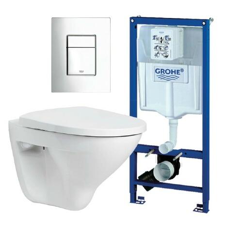 Førstevalg 2990:-  Grohe Pakketilbud på vegghengt toalett fra Varme & Bad