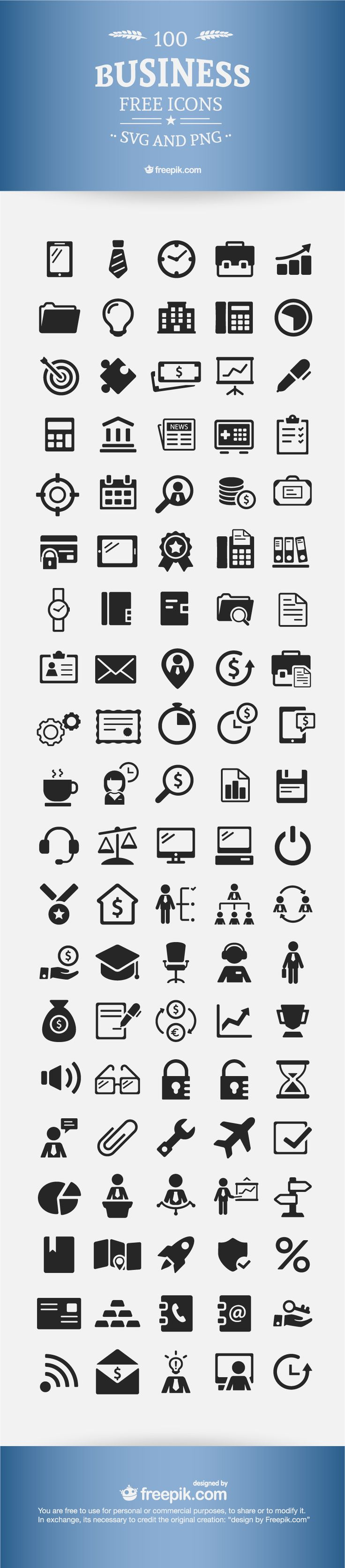 Business Icons - FREE for both personal and commercial projects.