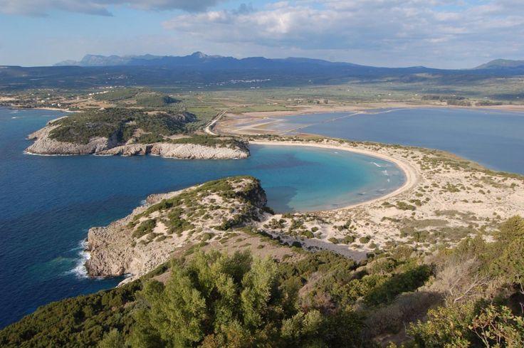 Voidokilia beach from above!