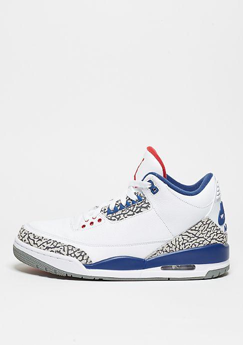 JORDAN Basketballschuh Air Jordan 3 Retro OG white/fire red/tr bl/cmnt