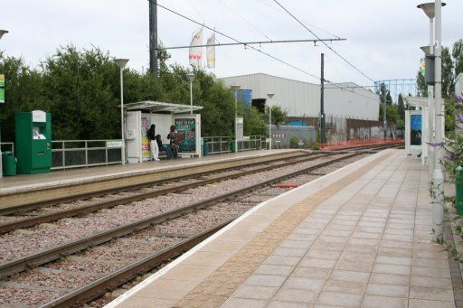 Croydon Tramlink tram stop at IKEA Ampere Way