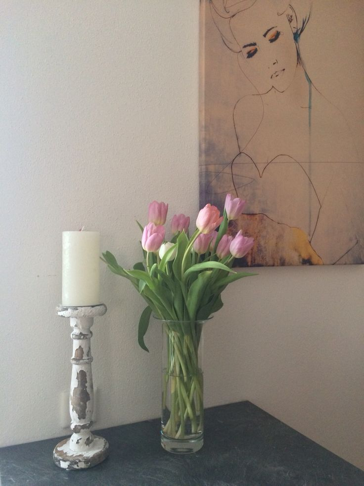 Frühling Blumen Strauß rosa Vintage Dekoration Küche kitchen ...