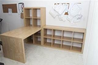 IKEA Sewing Room Ideas - Bing Images  Use half the idea for the far corner. Smaller table for my pc