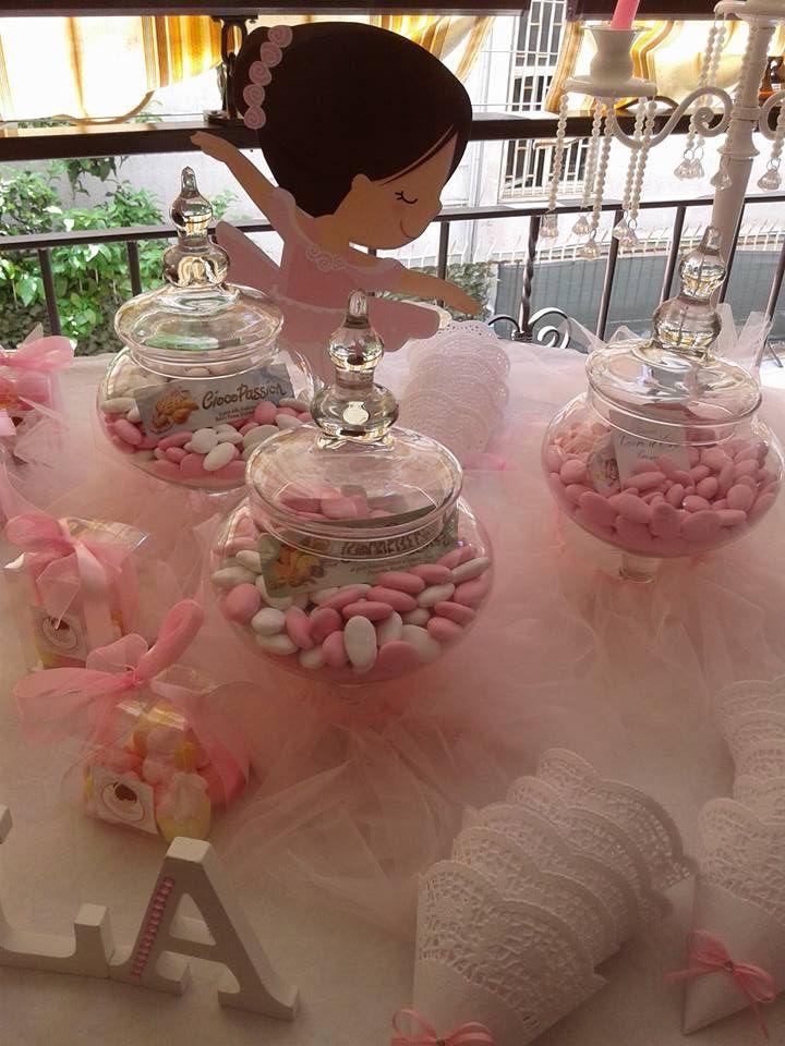 Confettata Tema Ballerina 1 Comunione Centrotavola Da Comunione Feste Di Compleanno Ballerina Comunione