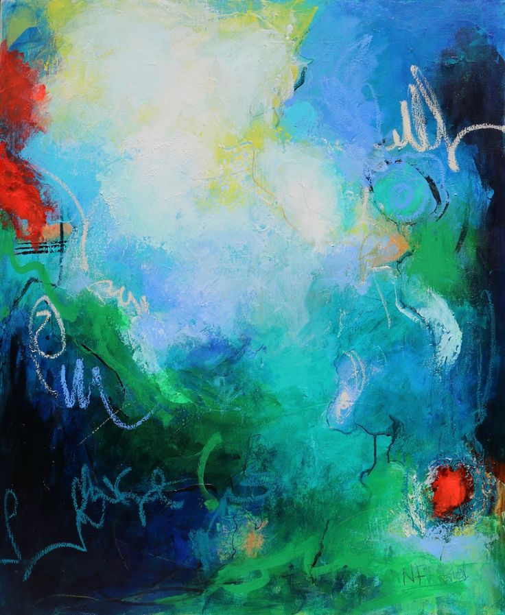 """""""Sea Beneath You"""" by Nicole Fearfield. Paintings for Sale. Bluethumb - Online Art Gallery"""