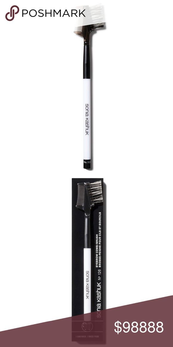 Sonia Kashuk Core Tools Eyebrow Comb/Brush -No 126 Sonia Kashuk Core Tools Eyebrow Comb/Brush - No 126  Multitask with the dual eye tool! Comb delicately separates lashes while the brush grooms eyebrows perfectly into place.  •Two-sided brush keeps eyelashes and brows looking great •Gentle comb side separates lashes for even mascara application Sonia Kashuk Makeup Brushes & Tools