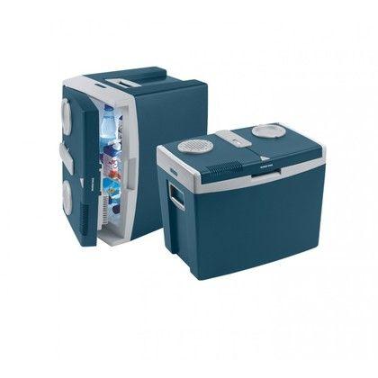 De Mobicool T35 kan worden aangesloten op 220V en wordt gekoeld door een ventilator die bijna geen geluid maakt. >> http://www.kampeerwereld.nl/mobicool-t35-ac-dc/