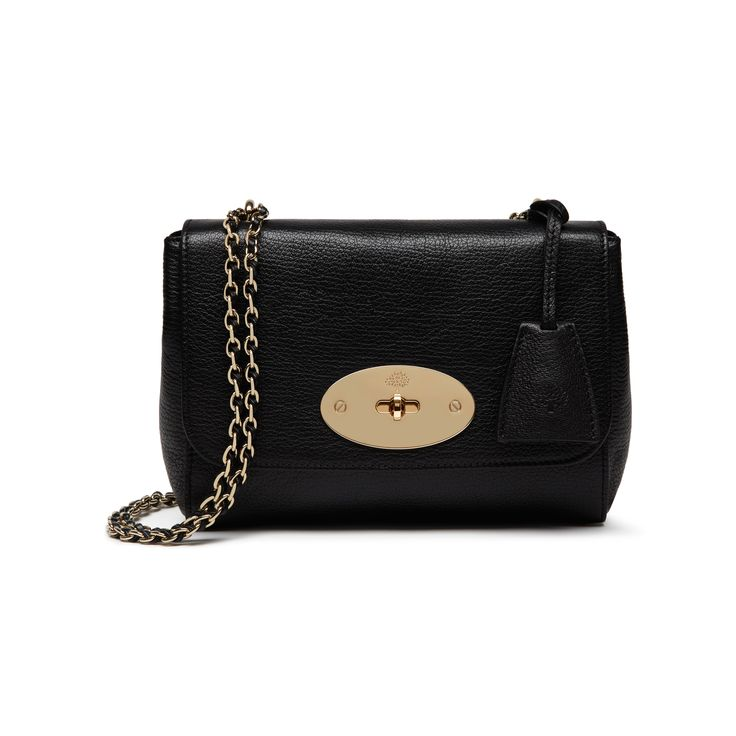 Mulberry - Lily in Black Glossy Goat with Soft Gold