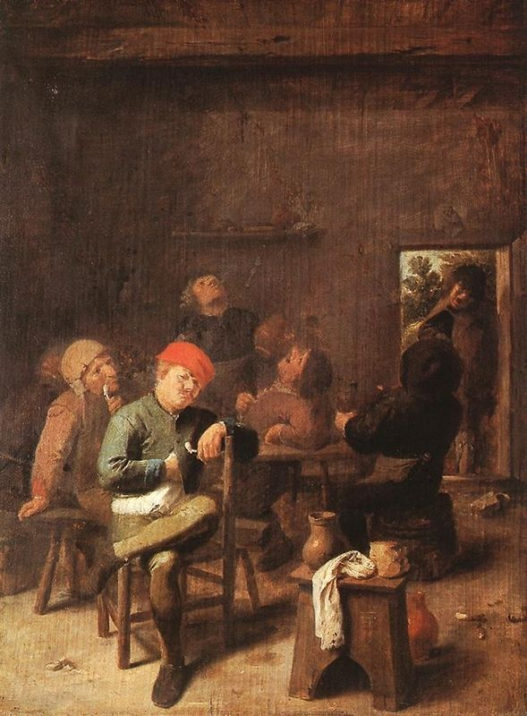 Adriaen Brouwer. Peasants Smoking and Drinking