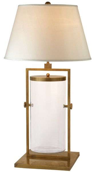 Visual comfort studio 1 light table lamp in hand rubbed antique brass