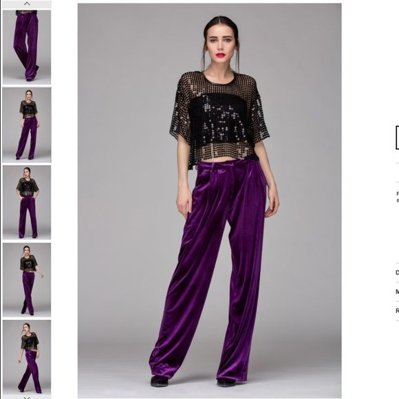 Front Row Shop Velvet Trouser Pants I just bought these and love them so much but they dont look right on my hips :-( brand is Front Row Shop - might keep them If I can find the right belt Nasty Gal Pants