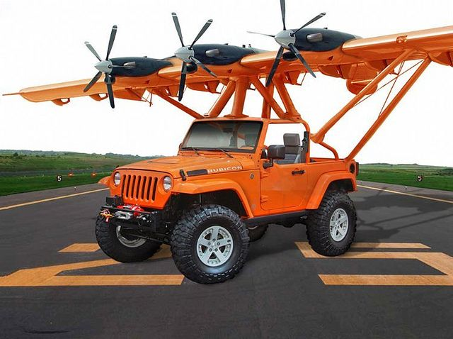 Flying Jeep Rubicon