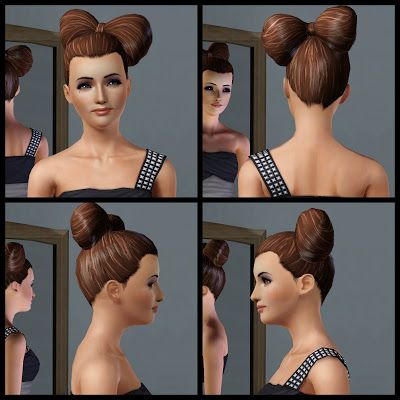The Sims 3 Store: Hair Showroom: Show Stopping Style- Flirty Hair Bow Hairstyle