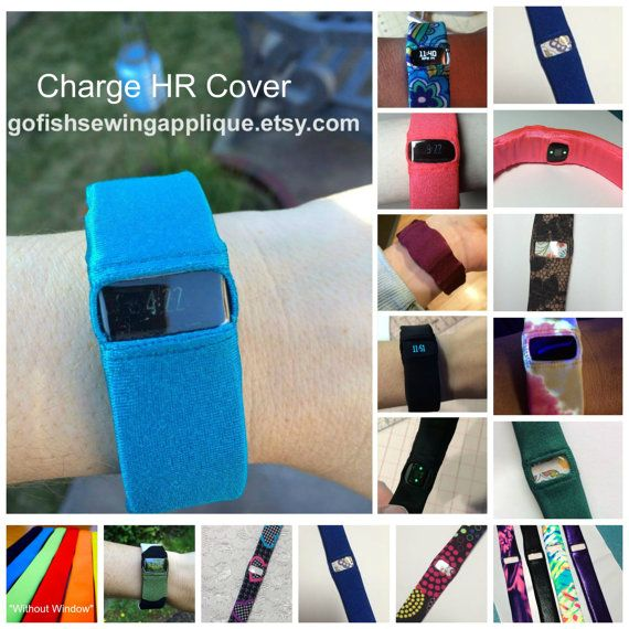 CHARGE HR Fitbit Cover for Charge HR by GoFishSewingApplique