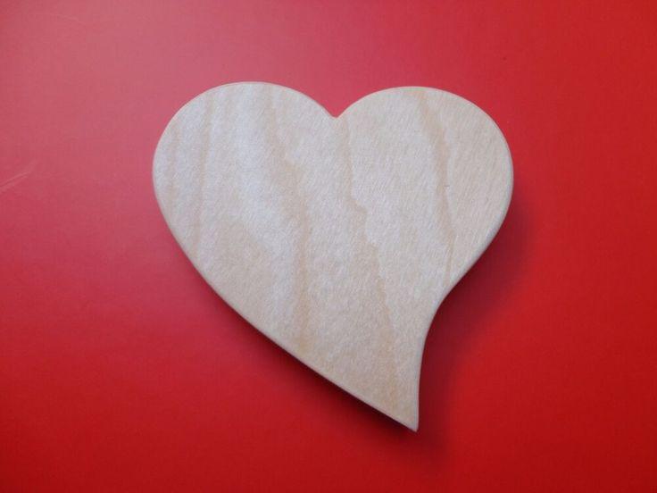 Holz-Herz Birke Holz Handwerk Handarbeit Muttertag Hochzeit  Liebe 6,5 cm