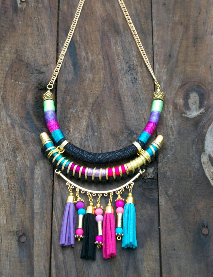 Statement tribal necklace bohemian necklace gypsy necklace handmade ethnic…