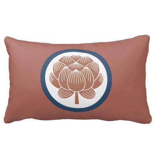Lotus Flower Kamon Pillow