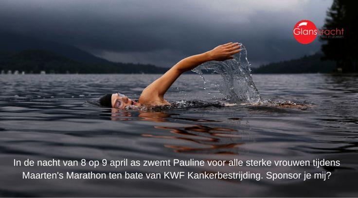 Ik zwem voor mijn moeder, vriendinnen en vele krachtige vrouwen met of zonder kanker. https://acties.kwf.nl/paulinezwemtvoorsterkevrouwen