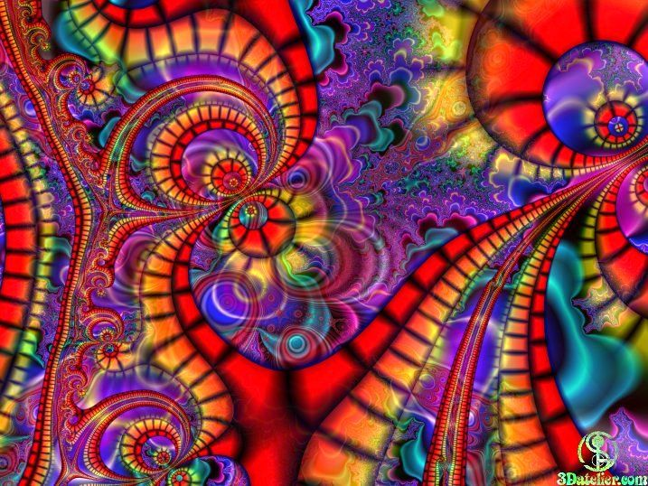 I like the way the colors flow...reminds me of black light posters.