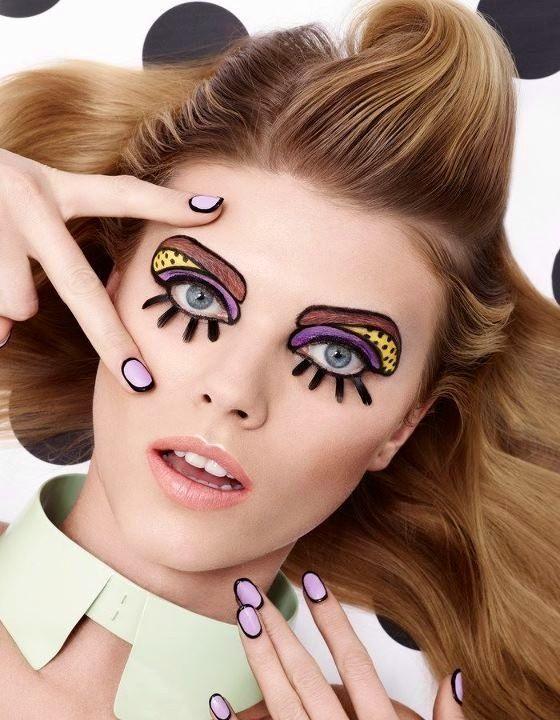 Pop Art makeup  #Halloween #holiday #ideas