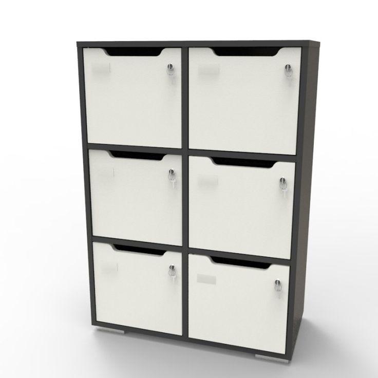 Meuble casier de rangement bureau ou vestiaires en bois, Caseo meuble 6 cases pour archive ou rangement. Idéal pour meuble archive et vestiaire collectifs dans bureaux, rangements, administratif.