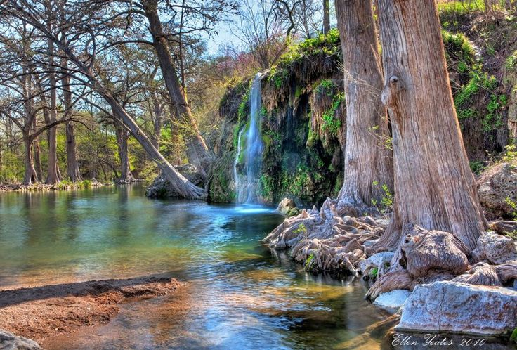 Krause Springs has been called the most beautiful swimming hole in Texas, and we're not going to argue. Krause Springs is approximately 30 miles west of Austin and camping is only $12 for adults, $6 for kids, so there's no reason not to check it out! The property has 32 springs and a spring-fed, man-made pool and has been privately owned by the Krause family for over 50 years. The place looks like a magical wonderland with tall trees whose roots are exposed.