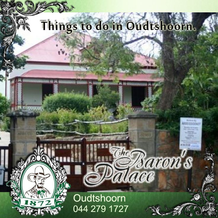 Things to do in Oudtshoorn. Arbeidsgenot. From the turn of century to 1950 this charming museum was the home of the composer of South Africa's first national anthem.  Send e-mail : info@baron.co.za #Arbeidsgenot #Oudtshoorn #activities