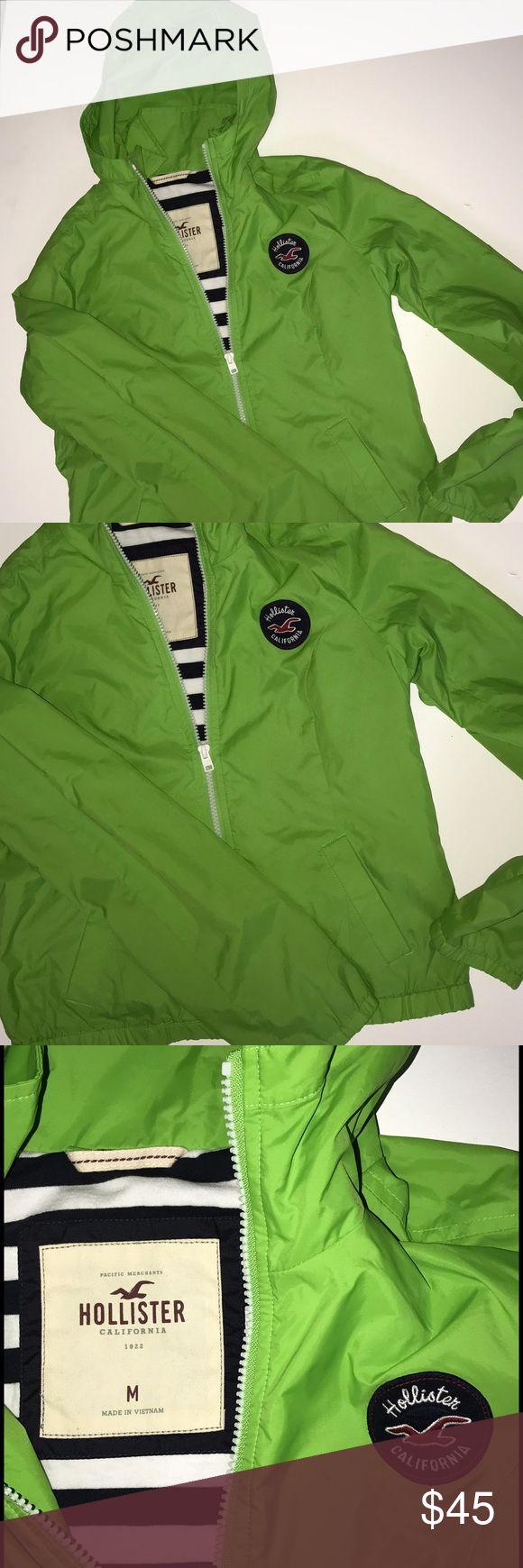 HOLLISTER CALIFORNIA FLIGHT JACKET NWOT NWOT, hooded flight jacket with logo. pretty green, lightly lined. size med fits snug Hollister Jackets & Coats