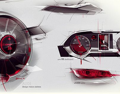 Audi Interior Sketch By Lakic Njegos Gordana