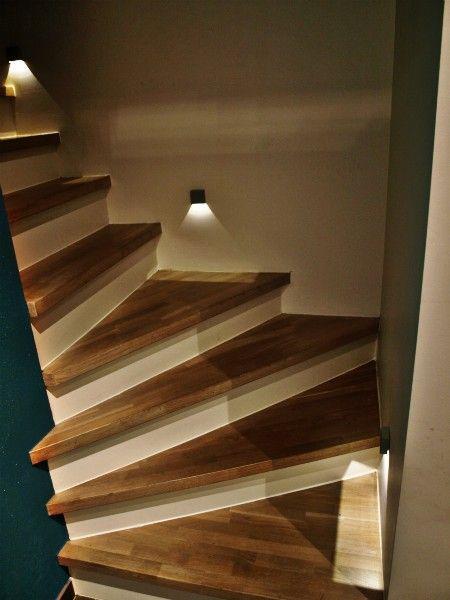 schrijnwerker gent betonnen trap bekleden hout traprenovatie