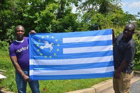 Bandera independentista de Camerún del Sur (Ambazonia)