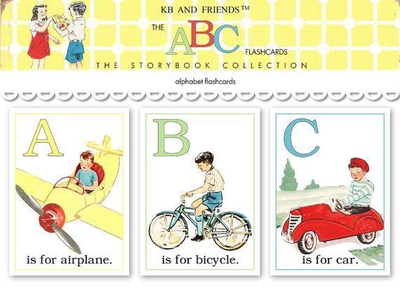 Digital ABC flashcards / alphabet flash cards/ 5 door KBandFriends