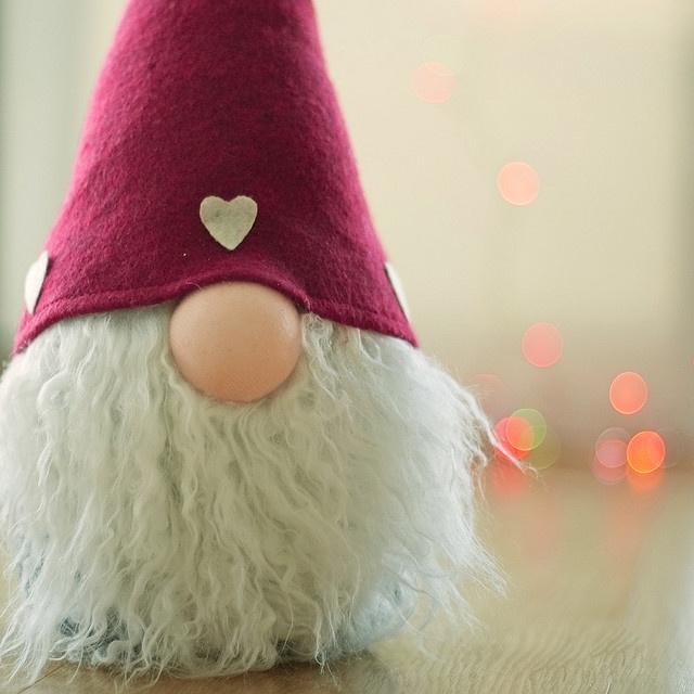 Cute elf w/big nose...julenisse, Tomte http://en.wikipedia.org/wiki/Tomte