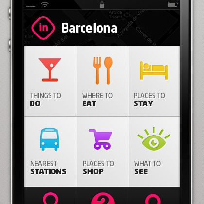 Inside Barcelona App design by Paulius Papreckis. - Best Mobile Designers In The World | Scoutzie