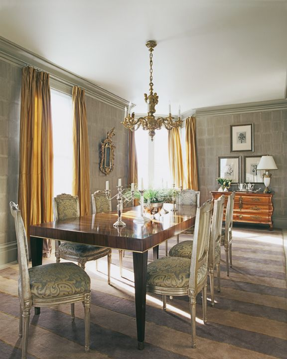 beautiful grey silver gold dining room