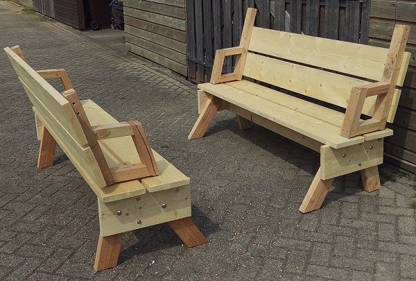 2 in 1 seat and picnic table made by Sander - photo 1