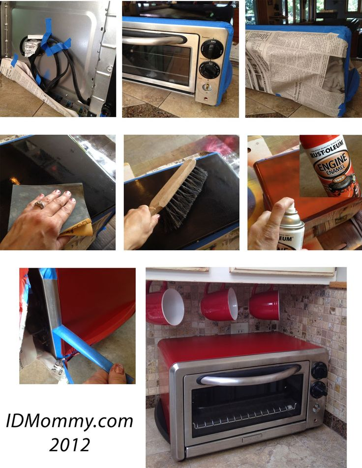 ID Mommy: Painting Appliances & My 1950's Style Kitchen Makeover!