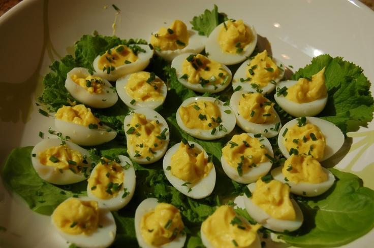 Deviled Quail eggs