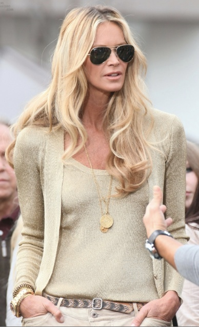 neutrals- Elle Macpherson.... How much fun to be her!