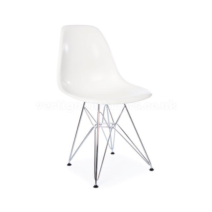 Eames Style DSR Chair - White | Vertigo Interiors