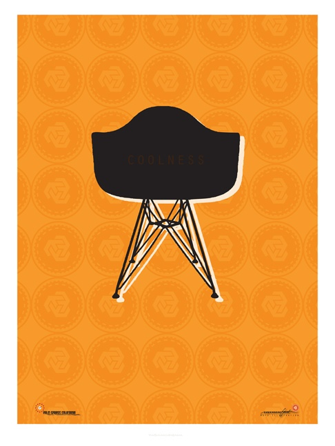 Eames Chair Poster For Mid Century Festival In Pal Springs