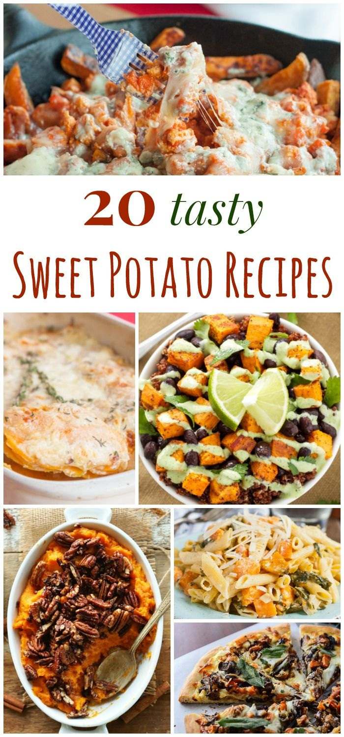 20 Tasty Sweet Potato Recipes - main dishes, sides, and more with sweet potatoes