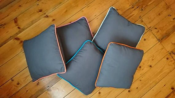 Rainbow Grey Cushion Collection - cushion cover uk - Removable - Washable - Square cushion - Cotton - Comfy - Quality - Grey pillow covers